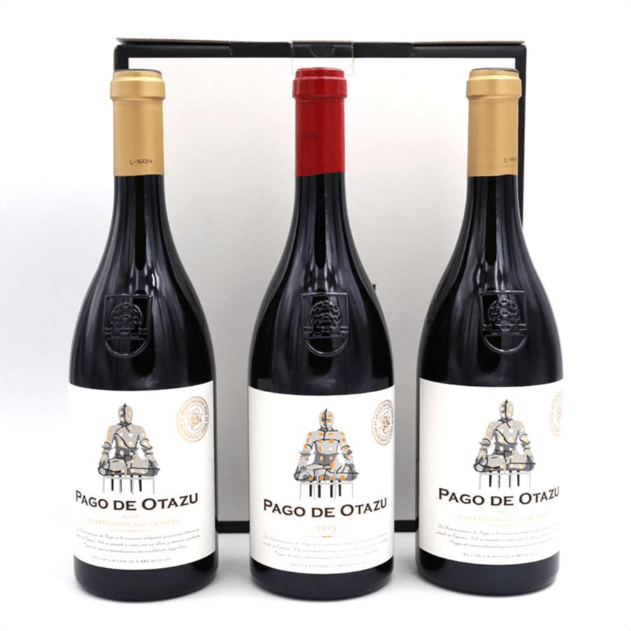 1 ampolla Pago de Otazu 2018 + 2 ampolles Pago de Otazu Chardonnay amb barrica 2018 + Estoig regal